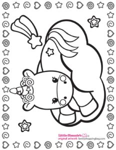 Coloring Page 3 Unicorn