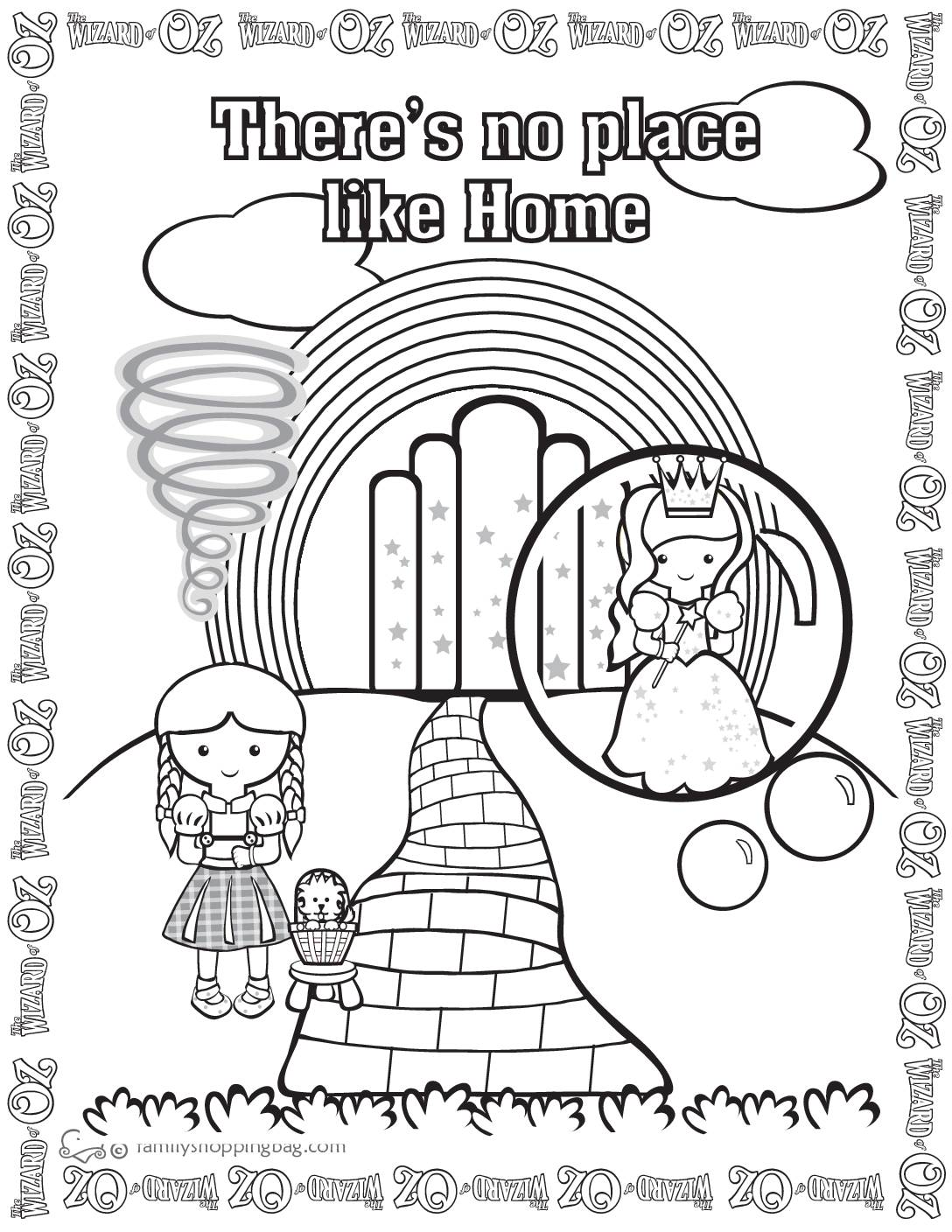Coloring Page 3 Wizard of Oz