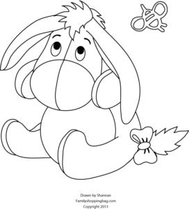 Eeyore Coloring Page