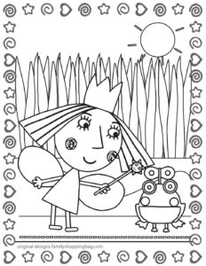 Coloring Page 4 Ben & Holly