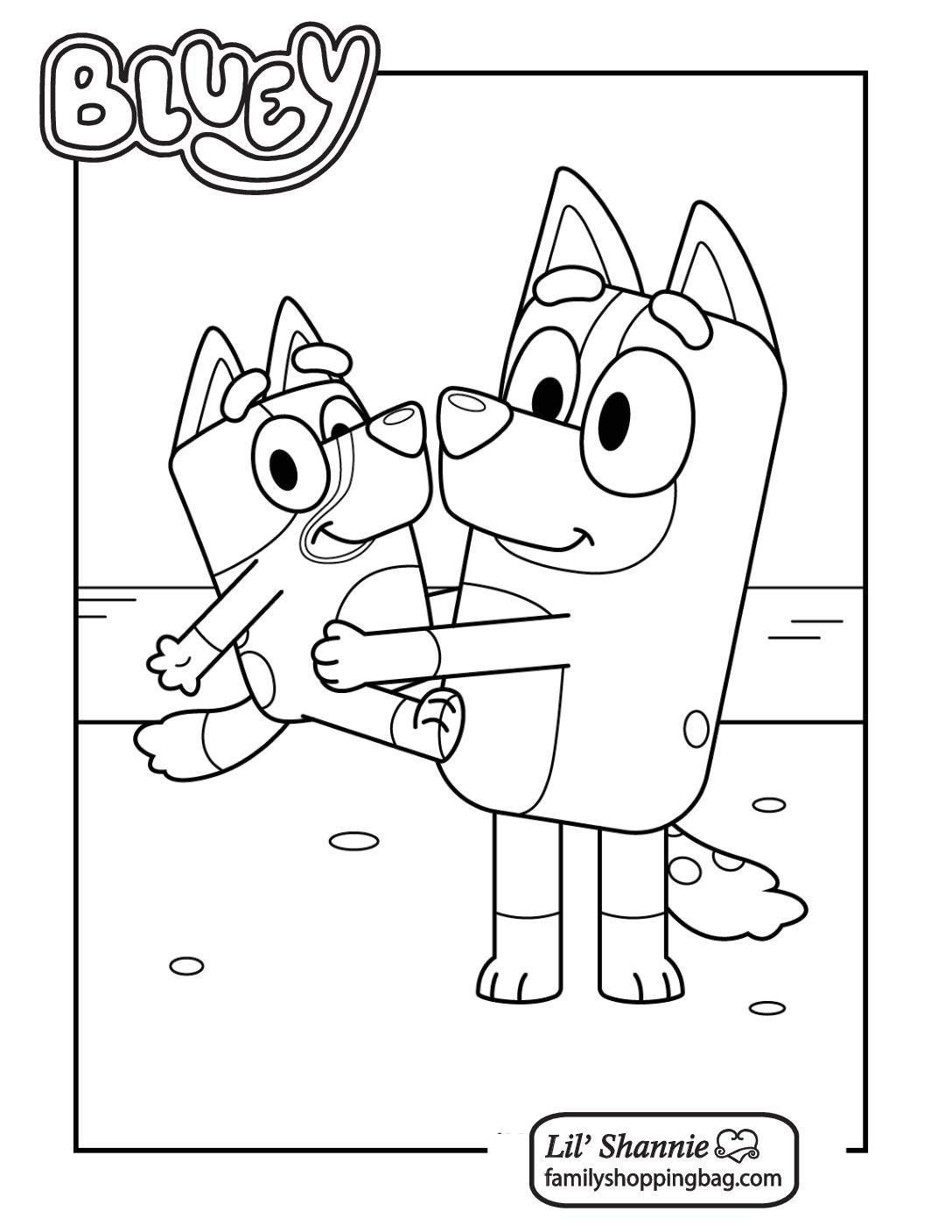 Coloring Page 4 Bluey