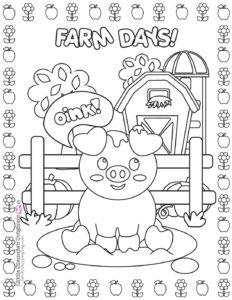 Coloring Page 4 Farm