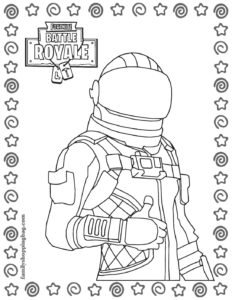Coloring Page 4 Fortnite