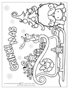 Coloring Page 4 Grinch