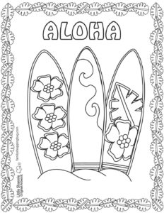 Coloring Page 4 Luau