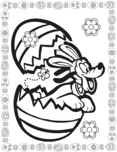 Coloring Page 4 Mouse Easter