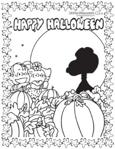 Coloring Page 4 Peanuts Halloween