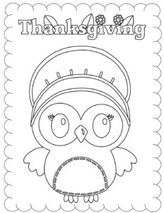Coloring Page 4 Thanksgiving
