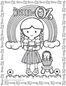 Coloring Page 4 Wizard of Oz