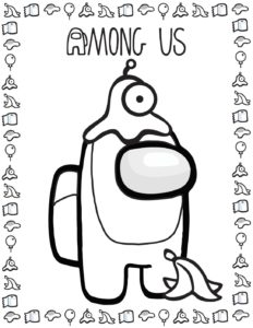 Coloring Page 5 Among US
