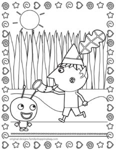 Coloring Page 5 Ben & Holly
