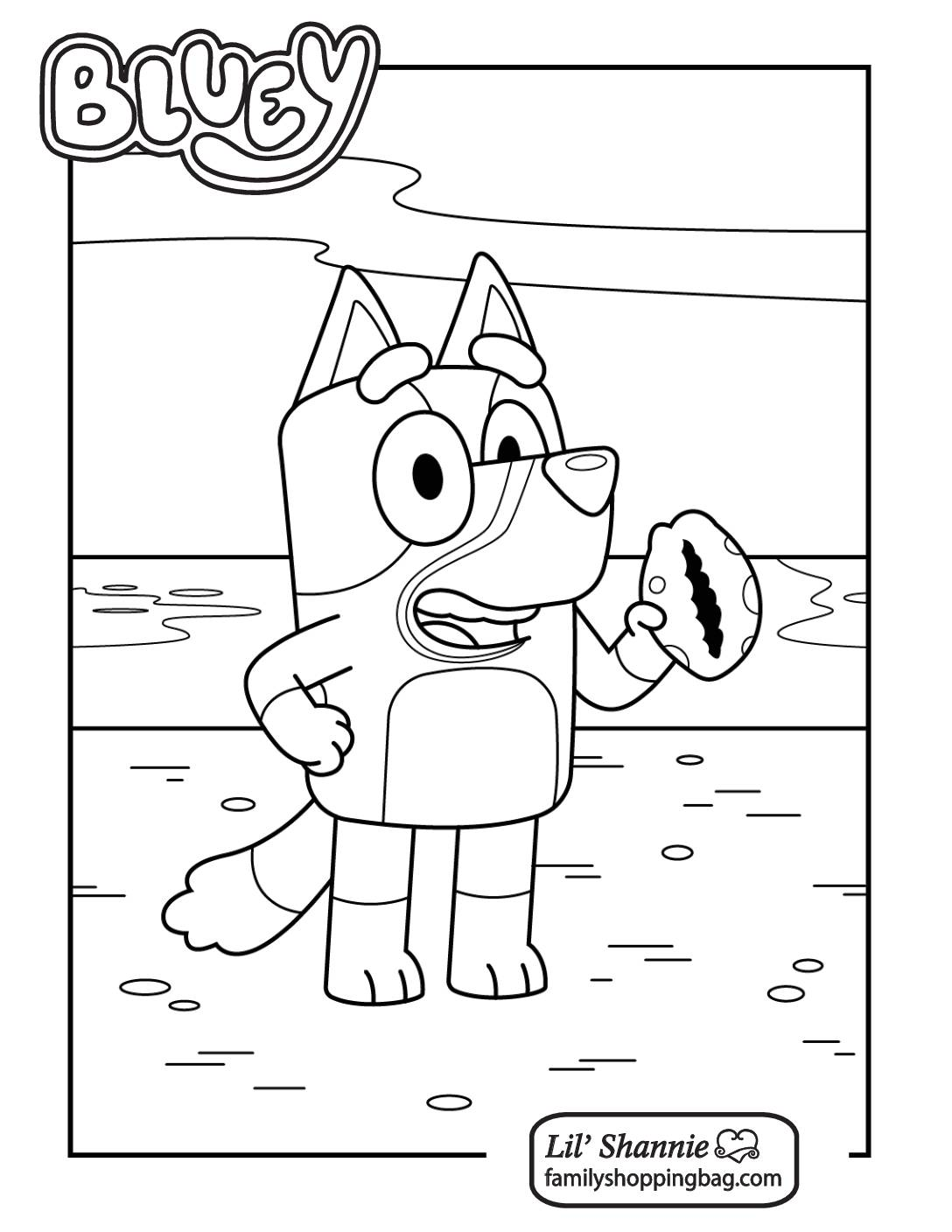 Coloring Page 5 Bluey