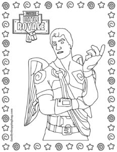 Coloring Page 5 Fortnite