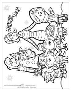 Coloring Page 5 Grinch