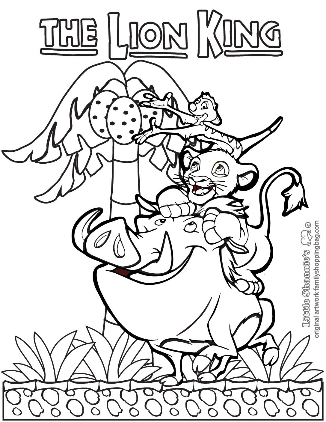 Coloring Page 5 Lion King