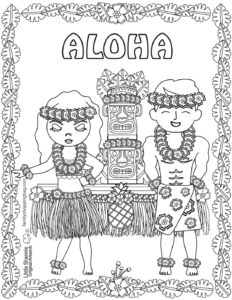 Coloring Page 5 Luau