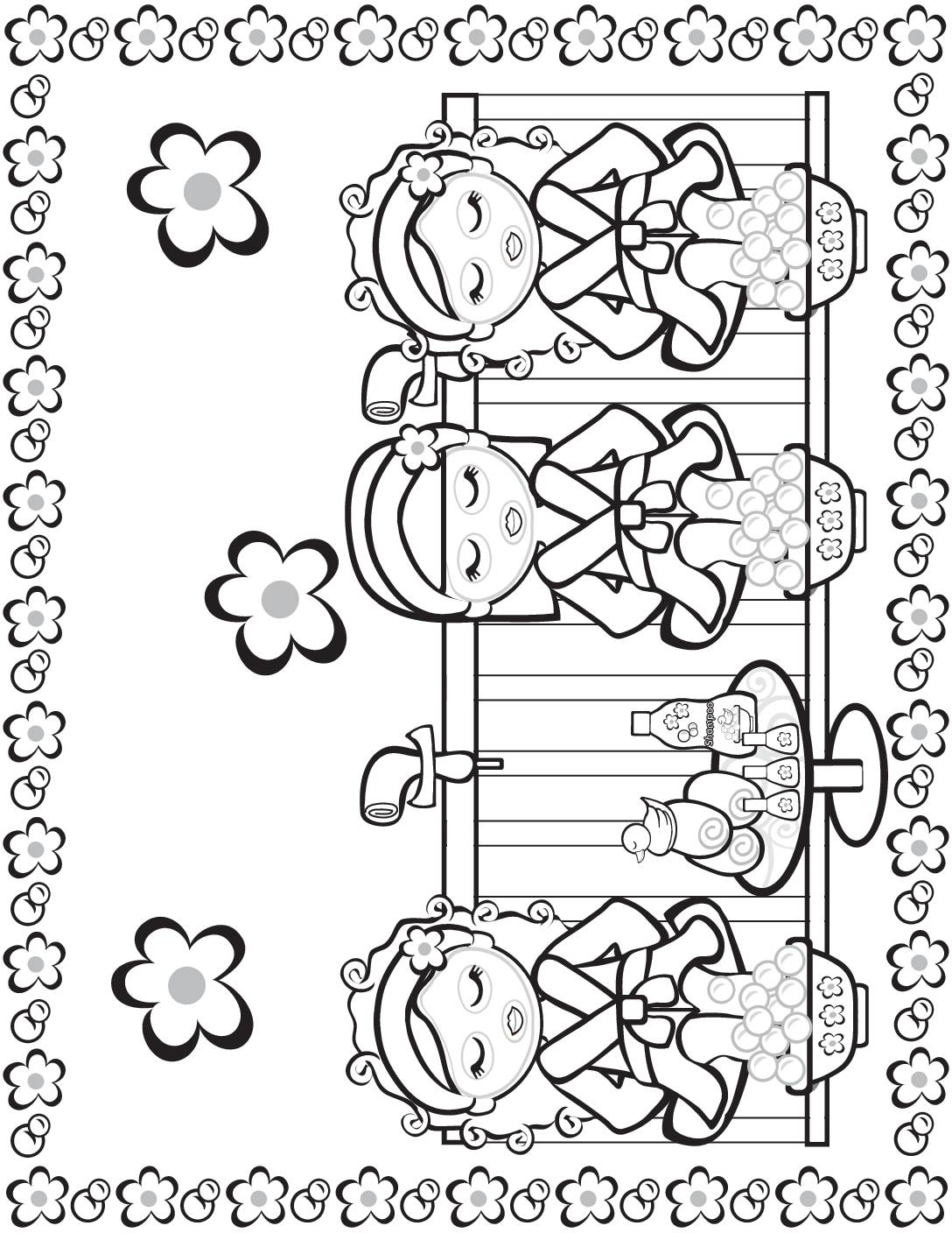 Coloring Page 6 Moms Spa Day