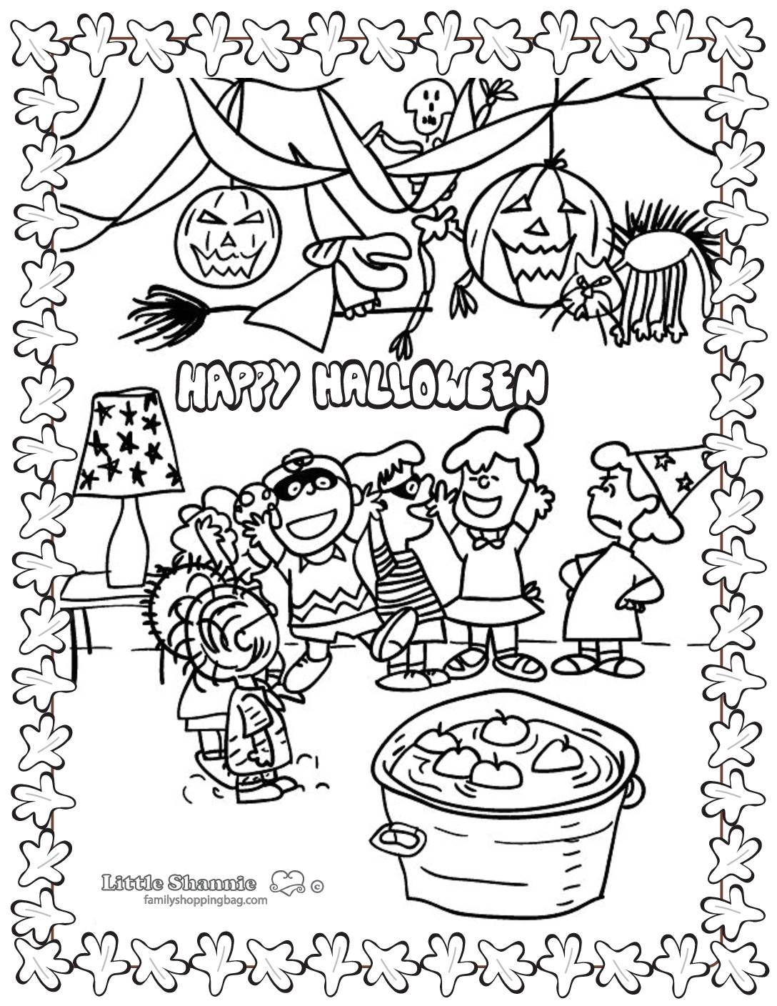Coloring Page 5 Peanuts Halloween