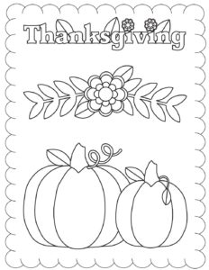 Coloring Page 5 Thanksgiving