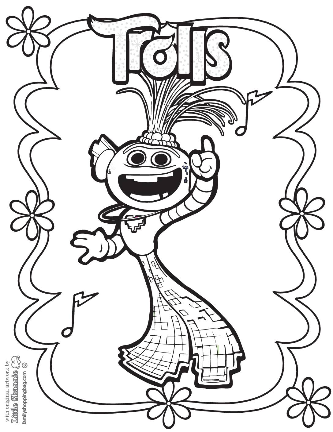 Coloring Page 5 Trolls