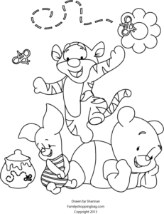 Winnie Pooh Coloring Page