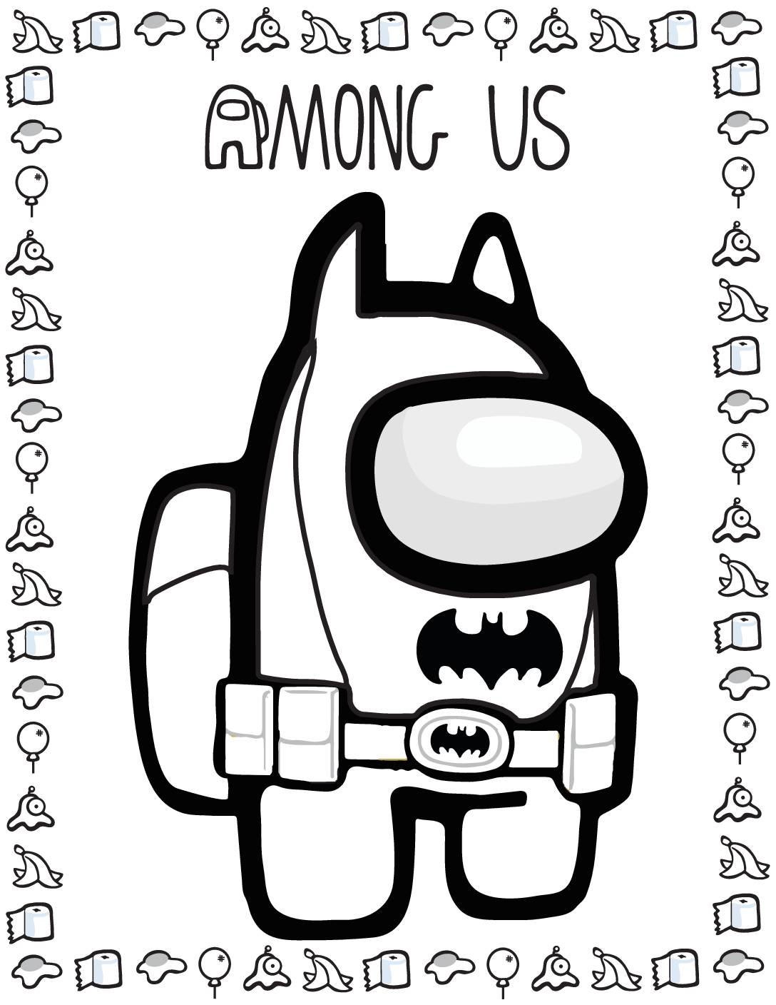 Coloring Page 6 Among US