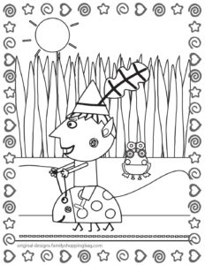 Coloring Page 6 Ben & Holly
