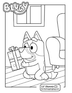 Coloring Page 6 Bluey