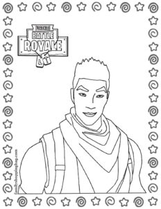 Coloring Page 6 Fortnite