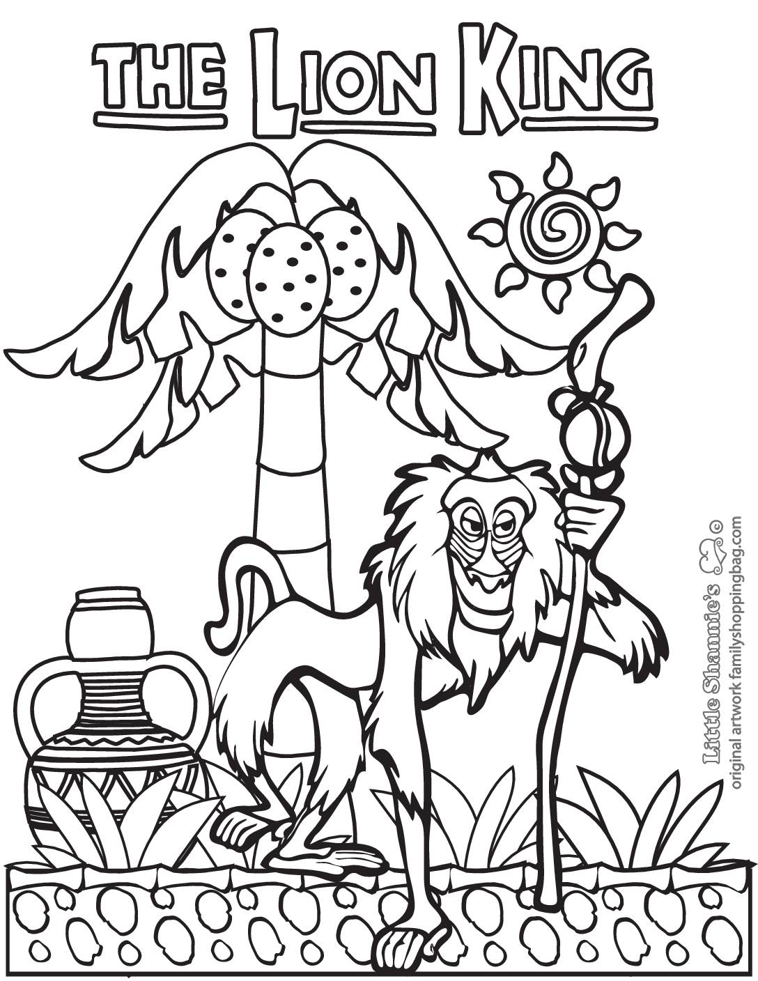 Coloring Page 6 Lion King