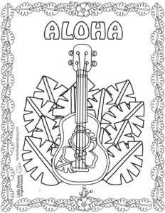 Coloring Page 6 Luau
