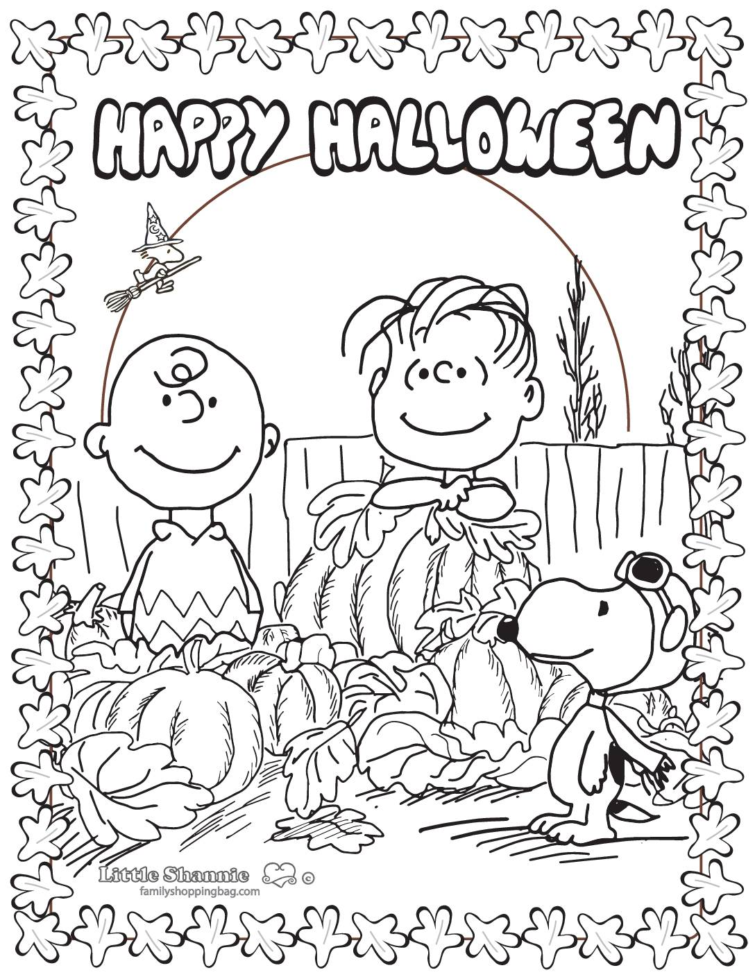 Coloring Page 6 Peanuts Halloween
