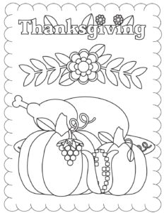 Coloring Page 6 Thanksgiving