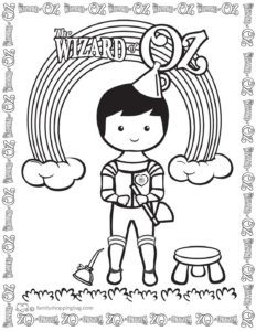 Coloring Page 6 Wizard of Oz