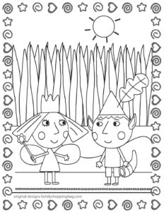 Coloring Page 7 Ben & Holly