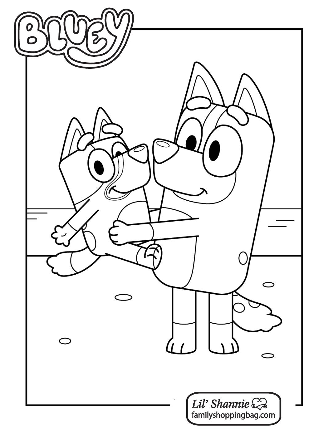 Coloring Page 7 Bluey