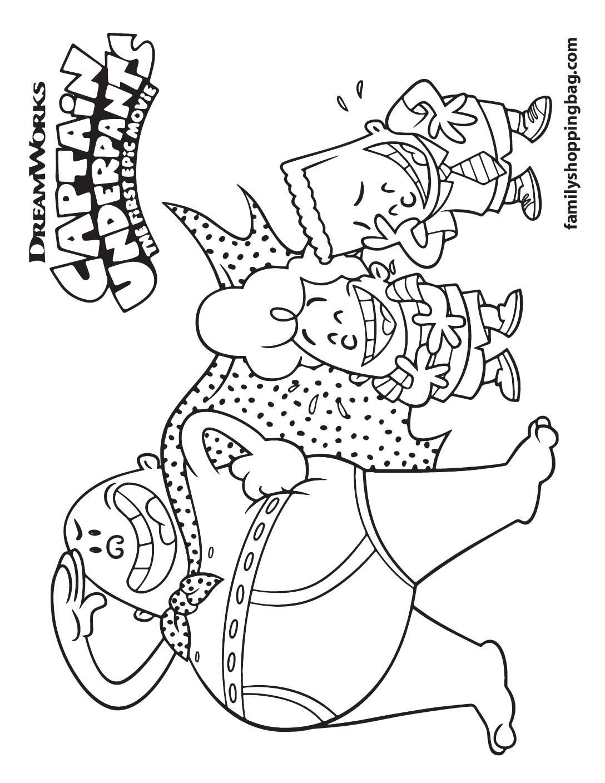 Coloring Page 7 Captain Underpants