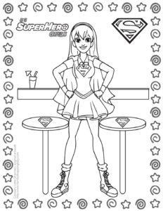 Coloring Page 7 DC Super Hero Girls