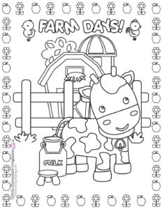 Coloring Page 7 Farm