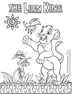 Coloring Page 7 Lion King