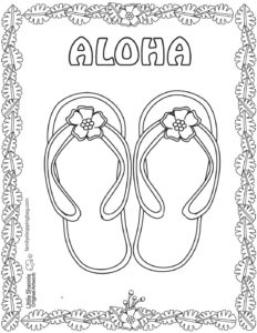 Coloring Page 7 Luau