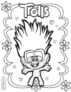 Coloring Page 7 Trolls