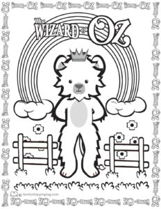 Coloring Page 7 Wizard of Oz