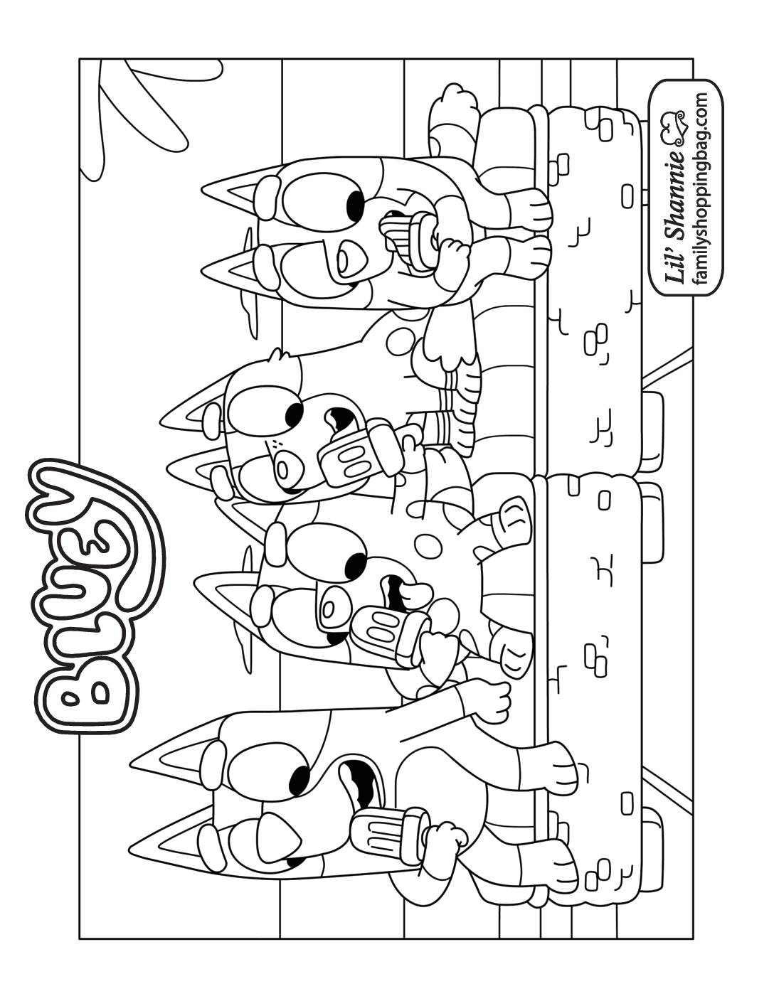 Coloring Page 8 Bluey