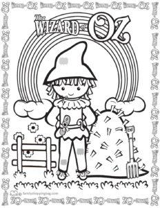 Coloring Page 8 Wizard of Oz