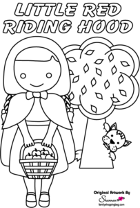 Coloring Page Red Riding Hood