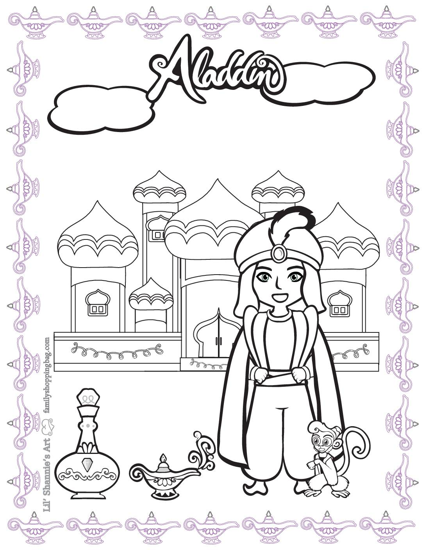 Coloring Page Aladdin