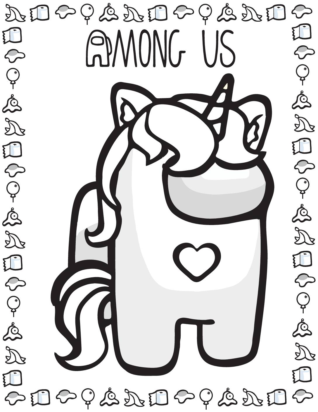 Coloring Page Among US