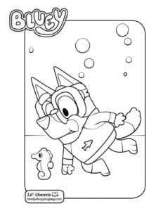 Coloring Page Bluey