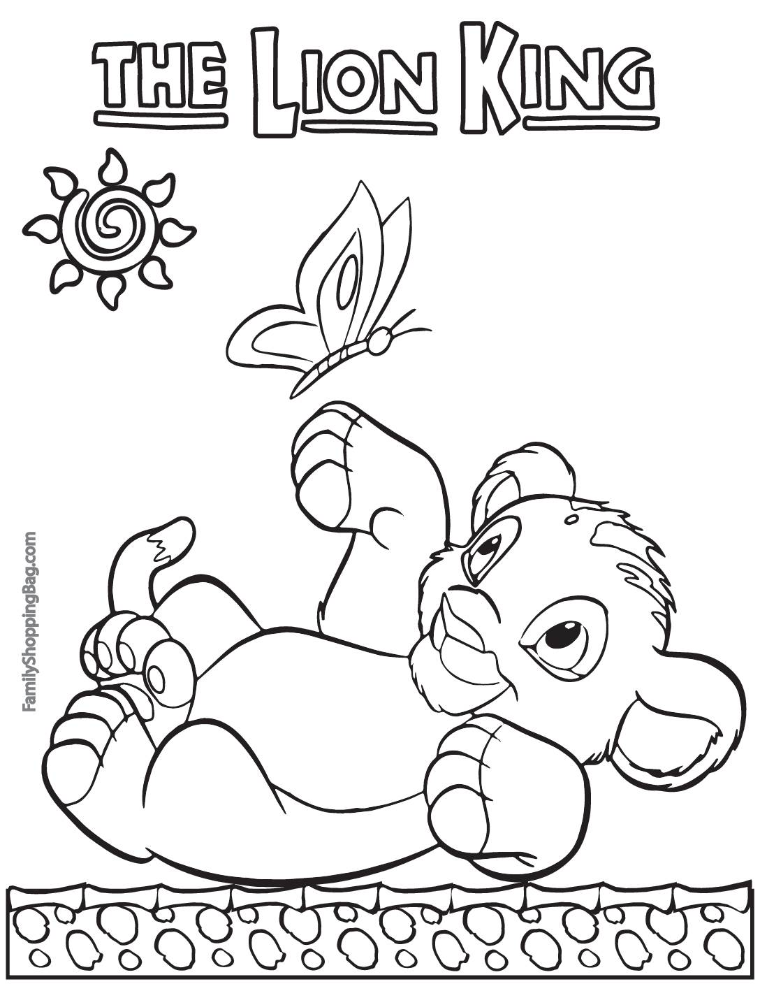 Coloring Page Lion King